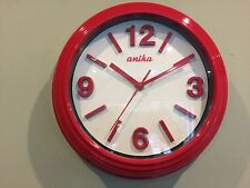 3d red diner Clock Wall Retro Vintage Shabby Chic Kitchen Office Home modern new