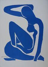 Henri MATISSE : Nu bleu I, Lithographie signée en couleurs # RARE # RIVES