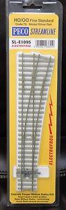 HO Scale - PECO STREAMLINE SL-E1095 ELECTROFROG Code 75 R/H Med Radius Concrete