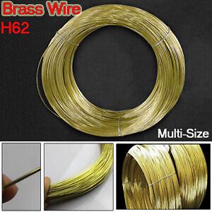 0.3/0.5/0.8/1/1.2/1.5/1.8/2/2.5/3mm Diameter Pure Brass Wire Round Solid 1/3/5M