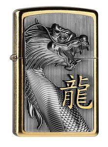 ZIPPO GOLDEN DRAGON 2004517 Emblem neu+ovp Gold Dust
