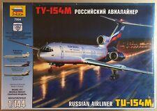 ZVEZDA 7004 - TU-154M RUSSIAN AIRLINER - 1/144 PLASTIC KIT NUOVO