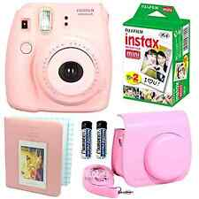 Fujifilm Instax Mini 8 Instant Film Polaroid Camera Pink, Case, Photo Album, Set