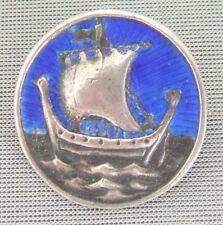 Attractive Silver & Enamel Celtic Brooch - Alexander Ritchie - Iona - 1920/30s