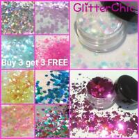 Chunky Festival Glitter Pot or 5g Bag Face Eye Body Tattoo Dance Club Cosmetic