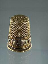 Antiker Fingerhut Silber 750 Gold Thimble