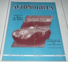 AUTOMOBILIA N°542 1951 24 H DU MANS JAGUAR RALLYE ALGER-LE CAP FANGIO REIMS