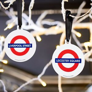 Official TFL London Tube Hanging Tree Bauble Decoration Gift