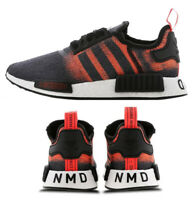 New adidas NMD R1 Mens sneaker gray black solar red all sizes