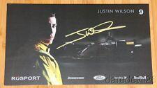 2005 Justin Wilson signed RuSPORT Ford Lola CART Champ Car postcard