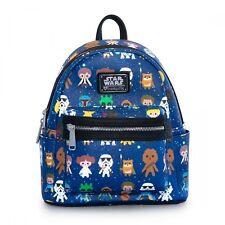 Lounglefly Star Wars Cartoon AOP Faux Leather Mini Backpack Kawaii Bag STBK0043