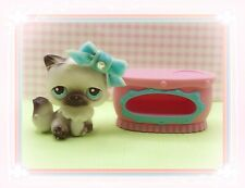❤️Authentic Littlest Pet Shop LPS Persian Cat 60 Black And White +accessories❤️