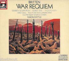 "Britten ""War Requiem"" Simon Rattle EMI 7 47034 8 (2-CD, 1983) MADE IN JAPAN NM"