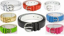 New REGULAR BONDED LEATHER Belt Womens Ladies - S M L XL - 10 Colors