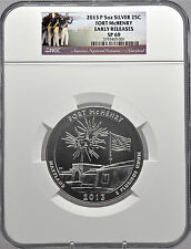 2013 P 5oz Silver 25C Fort McHenry Early Releases SP 69 Beautiful!
