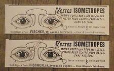 Publicité ancienne Verres Isometropes Fischer   1897