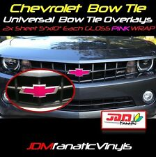 "2-5""x10"" High Gloss PINK BowTie Emblem Overlays Decal Vehicle Wrap Universal KIT"