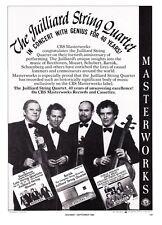 1986 The Juilliard String Quartet photo CBS Masterworks promo print ad
