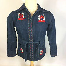Womens Vtg Denim Sanforized 1950s 60s Indian Aztec Navajo Chimayo Jacket Shirt