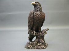 Dekoration  Dekofigur Adler  Weißkopfseeadler bronziert  Statue 13 cm