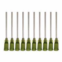 "10 x 1.5"" 14 Gauge Plastic Dispensing Needles Syringe Tip Luer Lock Needle"