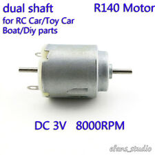 DC 1.5v 3V two Shaft DC Mini R140 Motor for Electric RC Toy Car Boat DIY Parts