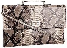 MISS SIXTY elvea GRIGIO WOMEN'S Ladies valigetta borsa a mano con cinturini-Rrp £ 88,00