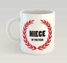 Niece Of The Year Funny Mug Gift Novelty Humour Birthday Kid Girl
