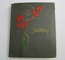 Antique Postcard Album 150 Post Cards All Michigan Ann Arbor Ypsilanti +Railroad