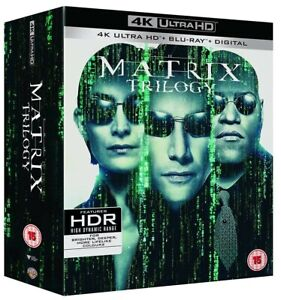 The Matrix Trilogy  Reloaded + Revolutions New 4K Ultra HD Region B Blu-ray