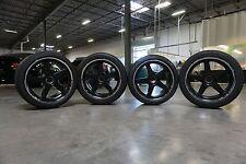 Forgeline Wheels CF3C, 19x11 19x12 51mm 5x4.75 Michelin Sport Tires Black Powder