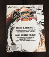 Dragon Ball FighterZ: Day One Edition DLC Slip (No Game) PlayStation 4 PS4 DBZ