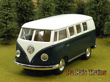 Die Cast Green 1962 VW Bus by Kinsmart Small G Scale 1:32 by Kinsmart 62 VW Bus