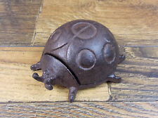 LADY BUG HIDE-A KEY KEY HIDER CAST IRON GARDEN DECOR HOME DECOR STATUE FIGURINE