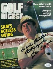 Sam Snead Golfer PGA Signed Golf Digest Magazine Page JSA Authenticated