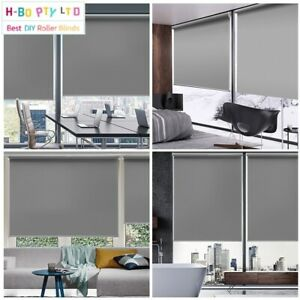 Roller Blinds Blackout Custom Made Size (40-300)x210/280cm Drill free