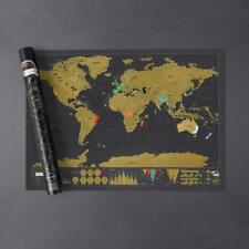 Scratch off Map World Poster Deluxe Edition – Personalized Scratchable Map