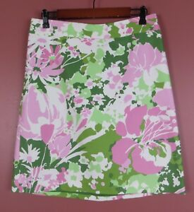 SK13199-NEW TALBOTS Womens Cotton Straight Pencil Skirt Multi-Color Floral Sz 8P