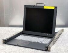 Hitachi 19 pollici lcd rack server console QWERTY Rack 1u KVM Tested Funzionante