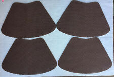 """SET OF 8 CHOCOLATE 18.5 X 12"""" RUBBER MESH FISHNET WEDGE SHAPED PLACEMAT"""