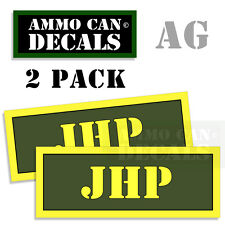 JHP Ammo Can Box Decal Sticker bullet ARMY Gun safety Hunting 2 pack AG