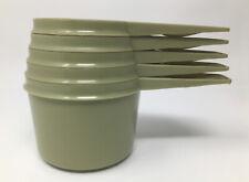Tupperware Set of 5 Vintage Measuring Cups 762 763 764 765 766 Green