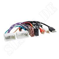 ISO RADIO KFZ Adapter Kabel Hyundai H1 i10 i30 i40 ix20 ix35 mit USB und AUX-IN