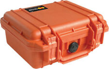Orange Pelican 1200 Case with foam includes Your FREE Custom Engraved Nameplate