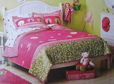 NEW Circo Ladybug Collection Quilt and Two Shams Set Pink / Full Queen 3 pieces