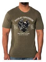 Harley-Davidson Men's Predator Eagle Short Sleeve Crew T-Shirt, Fatigue Green