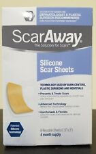ScarAway Scar Treatment Strips, Silicone Adhesive Fabric 4 Month Supply exp 5/23