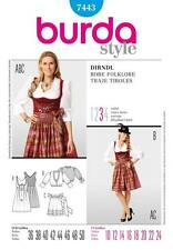 BURDA COUTURE MOTIF Mesdames Dirndl Robe Taille 10 - 24 7443