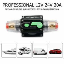 DC 12V-24V Auto Car Marine Bike Stereo Audio Circuit Breaker Reset Fuse Inverter