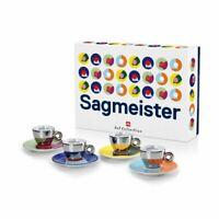 Illy Art Collection 23388 Stefan Sagmeister 4 Tasses à Espresso Tasses De Café